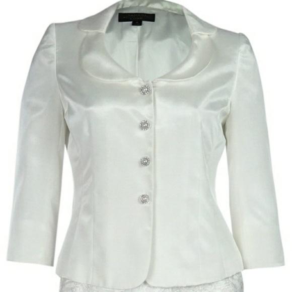 45% off Tahari Dresses & Skirts - Wedding White skirt suit with ...
